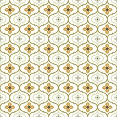 Seamless background image of vintage round curve flower kaleidoscope pattern.