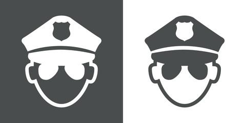 Icono plano policia #1