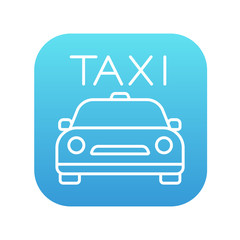 Taxi line icon.