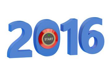 new year start 2016 concept