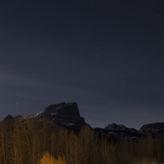 Starry Sky over the Rocky Mountains