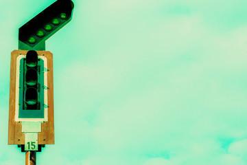 Vintage filter : Railway traffic light
