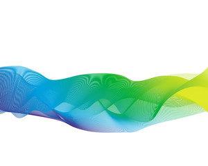 Abstract color Waves template background
