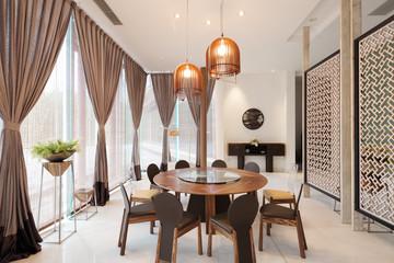 interior of modern dining room