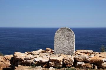 Antikes Grab am Meer
