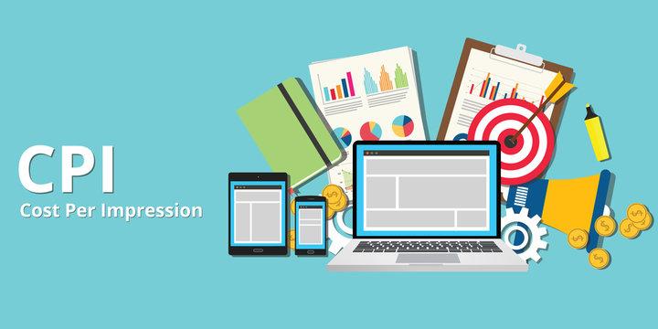cpi cost per impression impressions concept goals