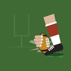 Field Goal American Football Vector Illustration.