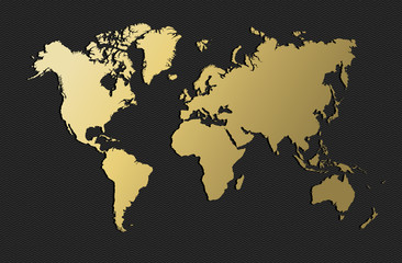 Acrylic Prints World Map World map gold earth blank empty globe