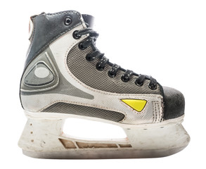 Hockey skate. Ice-skate isolated