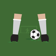 Penalty Kick Vector Illustration.
