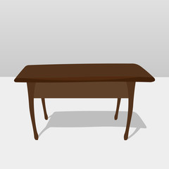 Wooden table with shadow