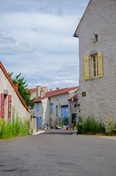 Empty street in a french village