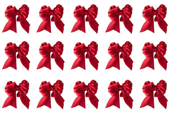 red ribbon bow on white background decoration for christmas and new year