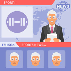Reporter and sports news