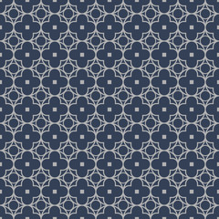 Seamless background image of vintage repeat round cross geometry line pattern.