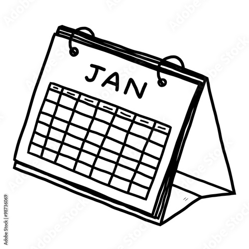 Calendar Drawing Cartoon : Quot calendar of january cartoon vector and illustration