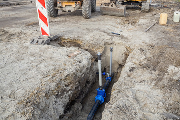 Construction of new water line