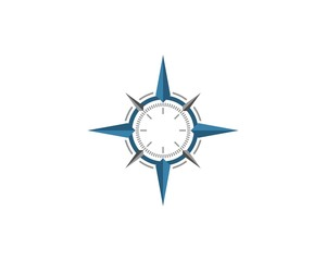 blue compass rose logo template