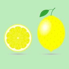 Lemon flat illustration