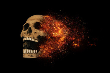 skull flames Fire effect