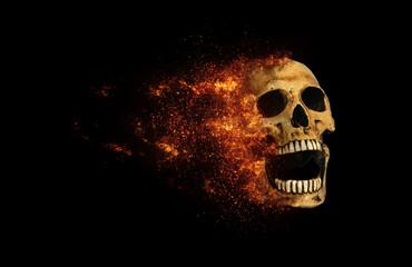 skull flames Fire effect