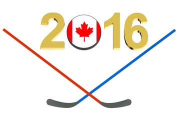 Hockey 2016 Canada concept