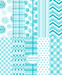 Repeating patterns for digital paper, scrapbooking, cards, invitations, gift wrap, and paper backgrounds. File includes: snowflake print, gingham/plaid, stripes, polka dots,  chevron and more.
