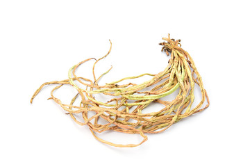 dry cow pea isolated on white background