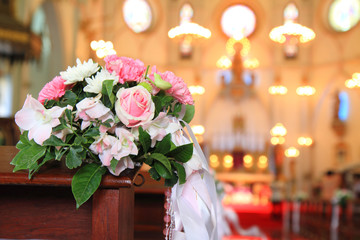 bouquet in Church of Christian