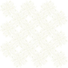 Seamless background, abstract,  beige branches and leaves on a white  background. Design element, vector