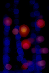 abstract background blue bokeh circles for Christmas background.