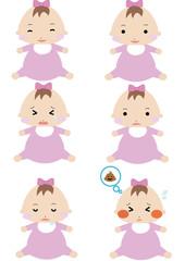 赤ちゃん 表情 女の子