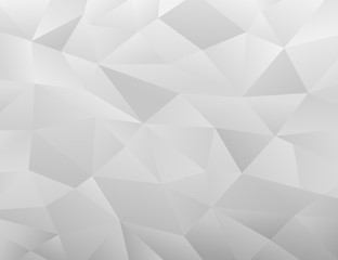 White Polygonal Mosaic Background