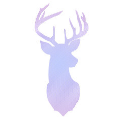Striped head of deer in vector