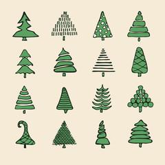 Set of vector hand drawn cartoon greeting cards