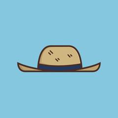 Travel Hat Icon Logo