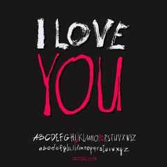 Ilove you hand lettering