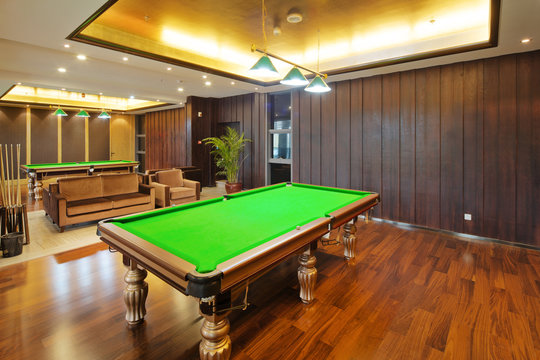 interior of modern billiard room