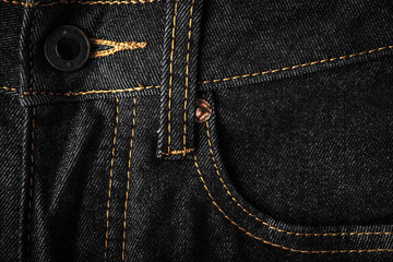 Black jeans with pocket and button background