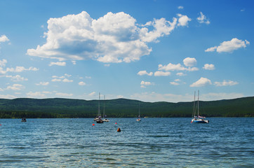 Recreation on the lake Turgoyak