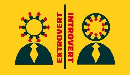 extrovert vs introvert metaphor