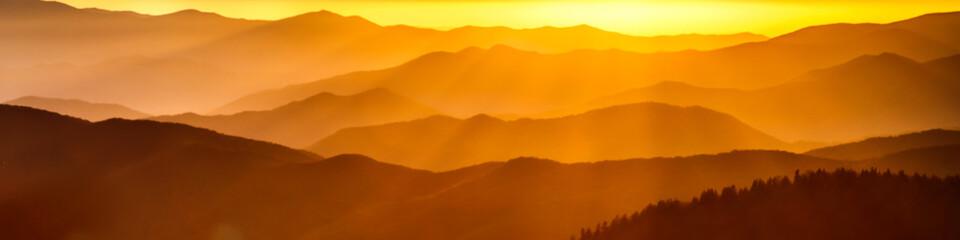 Smoky mountain ridges