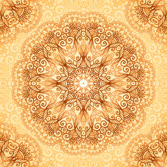 Ornate vintage seamless pattern in mehndi style