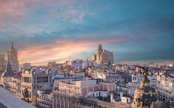 Madrid skyline
