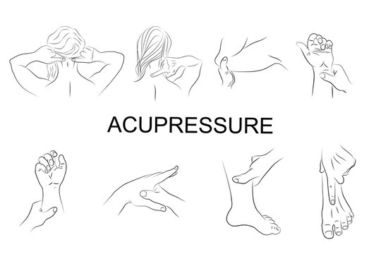 point massage. Body parts.