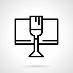 Celebratory drink black simple line vector icon