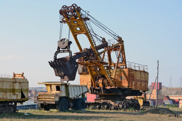 "Old mining machinery diamond career ""Mir"""