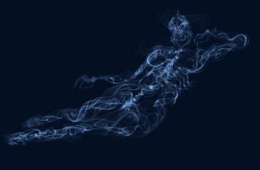 naked girl smoking