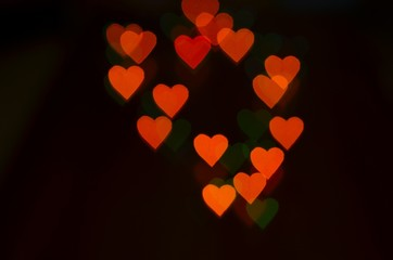 bokeh background with red. Background to the Valentine's day