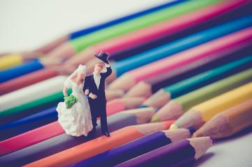パステルカラー,新婚夫婦